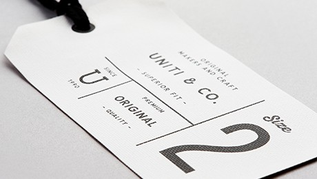 Isolated branding ticket, hang tag