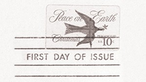 First U.S. self adhesive postage stamp