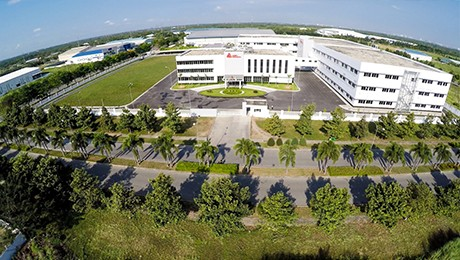 2016 arial view of the 300,000 square foot facility in Long An, Vietnam