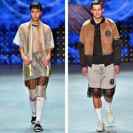 Two male models wearing Astrid Andersen sporting collaboration with RBIS