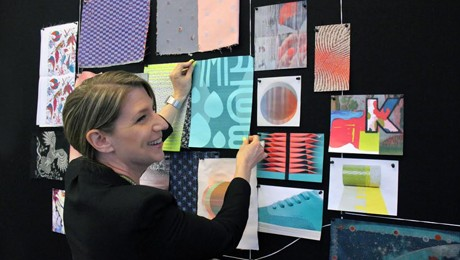 Designer working on Conponent Weave innovation