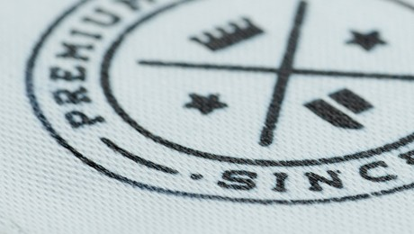 woven label up close